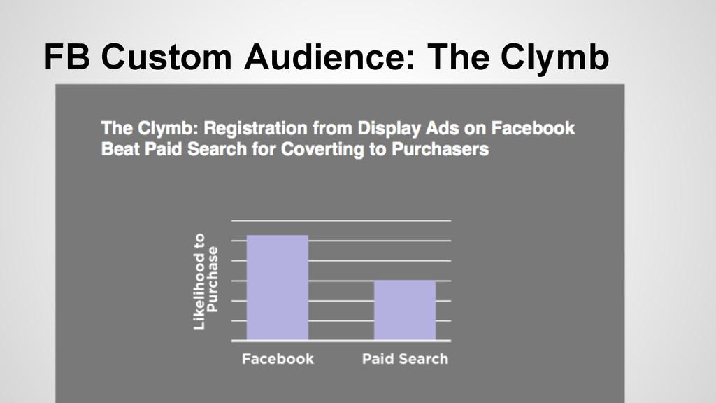 FB Custom Audience: The Clymb