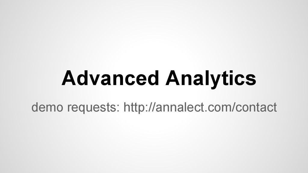 demo requests: http://annalect.com/contact Adva...
