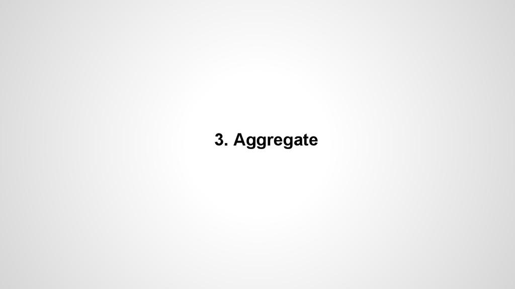 3. Aggregate