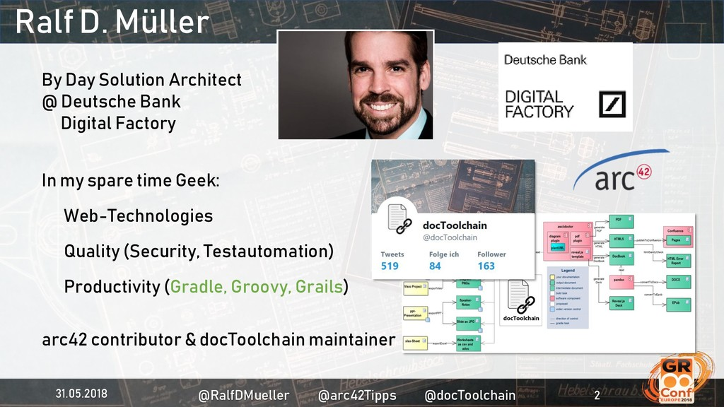 Ralf D. Müller By Day Solution Architect @ Deut...