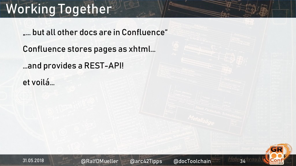 """Working Together """"… but all other docs are in C..."""