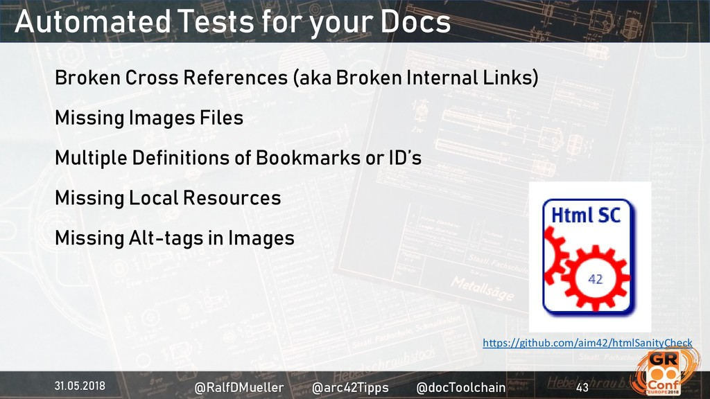 Automated Tests for your Docs Broken Cross Refe...