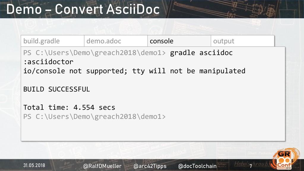 build.gradle demo.adoc console output PS C:\Use...