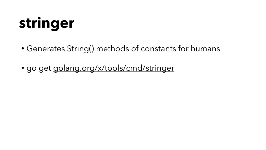 stringer • Generates String() methods of consta...