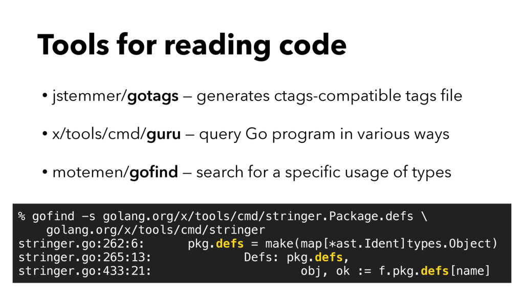 Tools for reading code • jstemmer/gotags — gene...