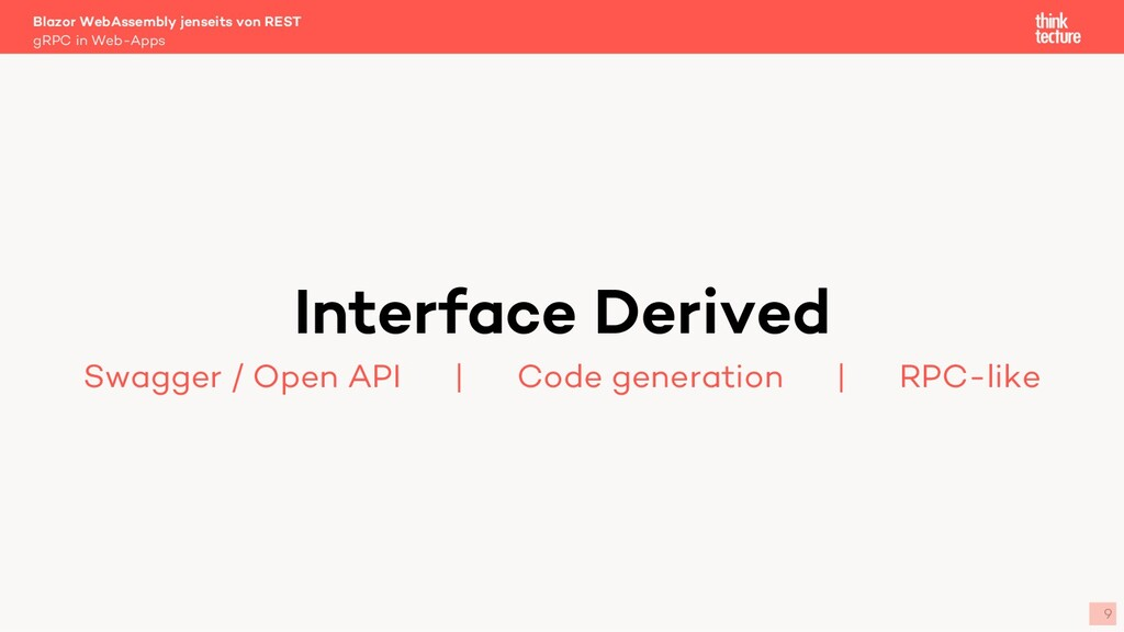 9 Interface Derived Swagger / Open API   Code g...