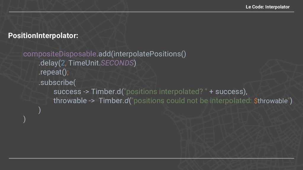 Le Code: Interpolator PositionInterpolator: com...