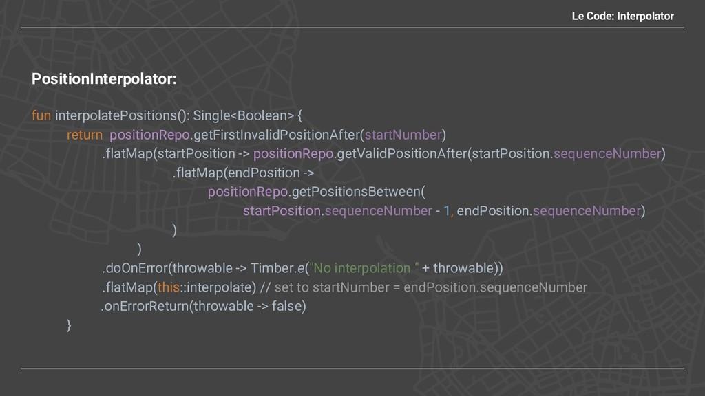 Le Code: Interpolator PositionInterpolator: fun...