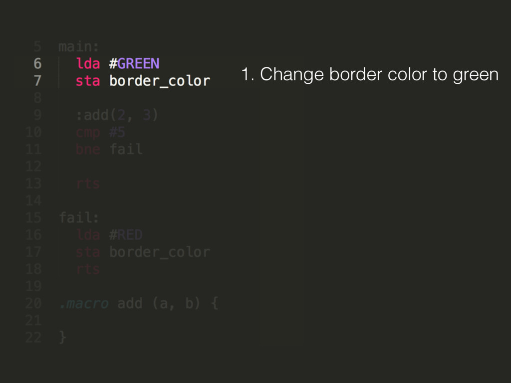 1. Change border color to green