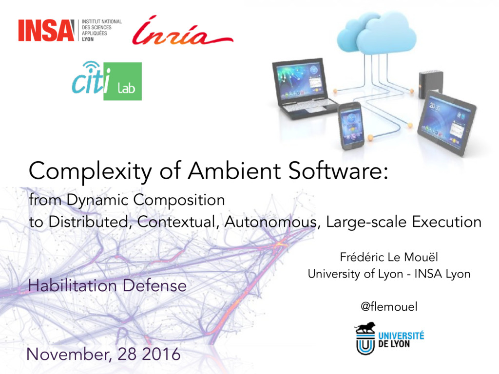 Complexity of Ambient Software: from Dynamic Co...