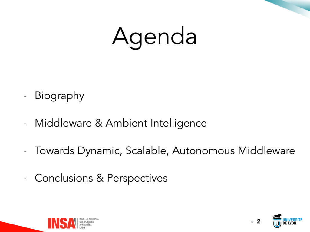 Agenda - Biography - Middleware & Ambient Intel...