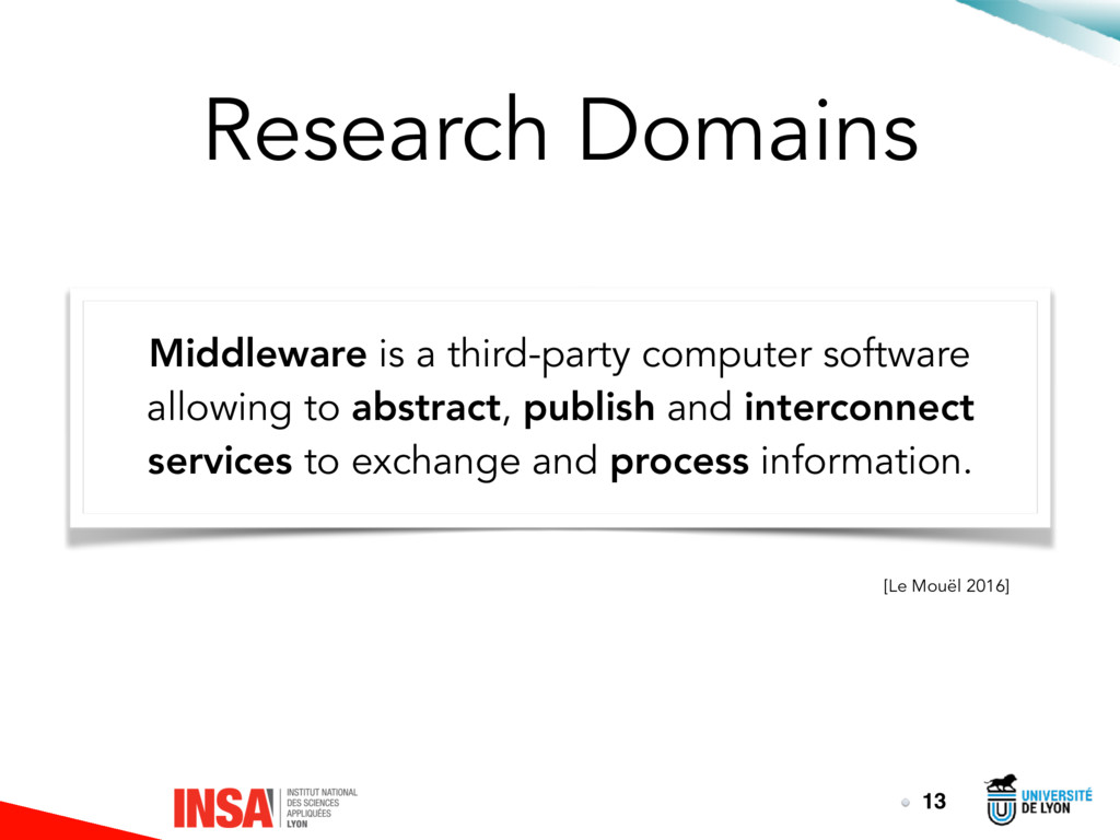 Research Domains Middleware is a third-party co...