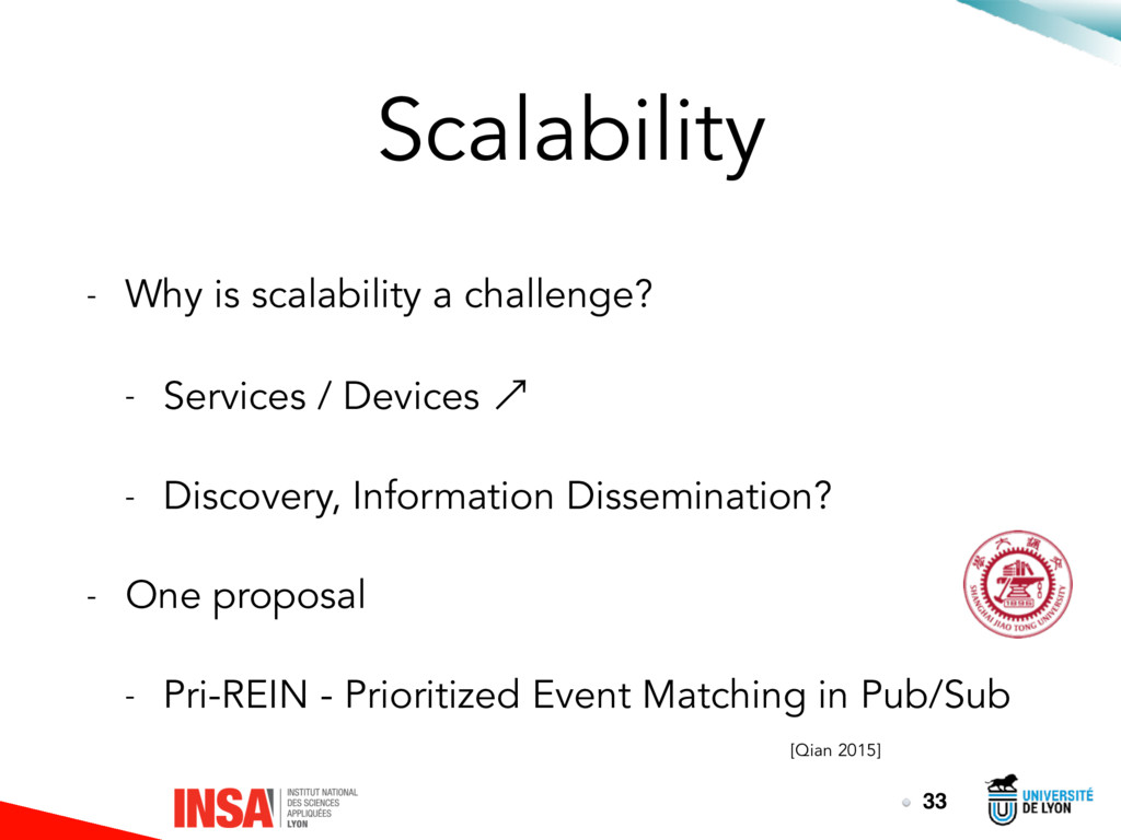 Scalability - Why is scalability a challenge? -...