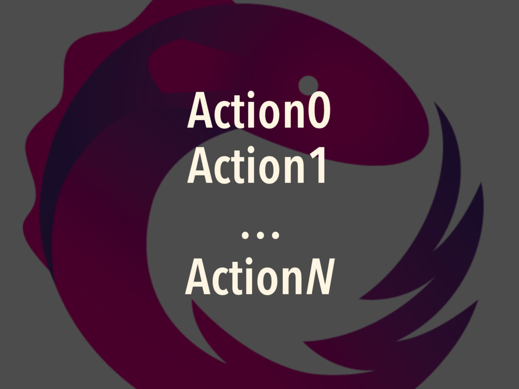 Action0 Action1 … ActionN