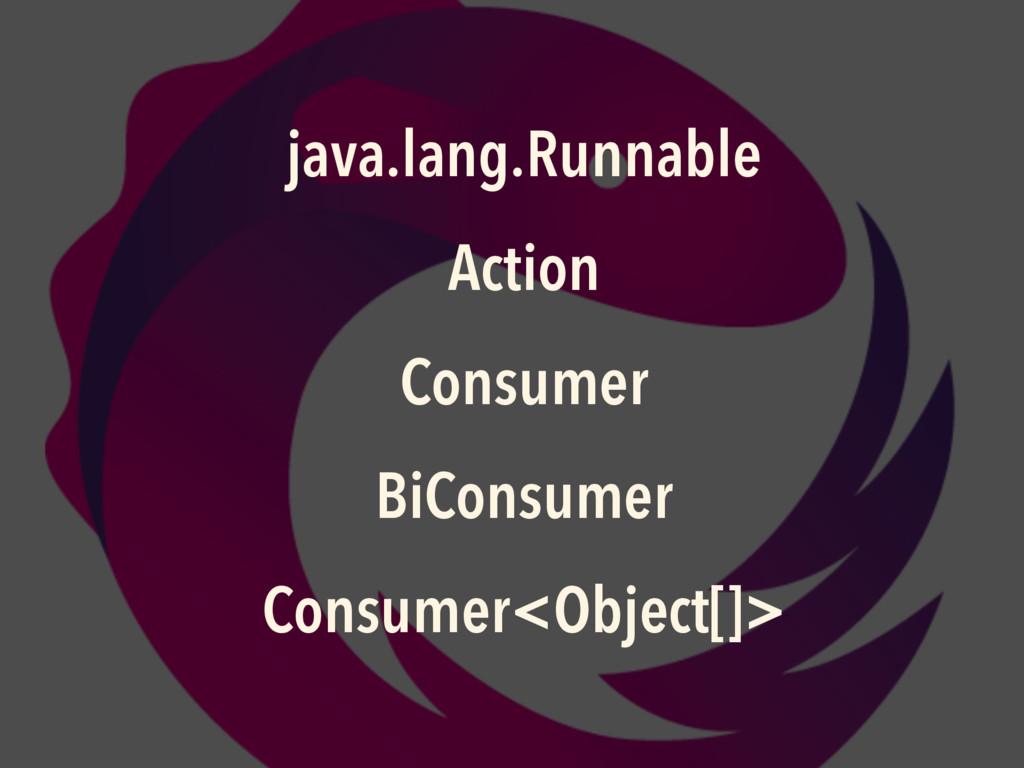 java.lang.Runnable Action Consumer BiConsumer C...