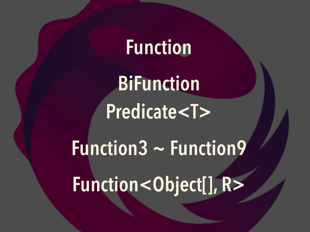 Function BiFunction Predicate<T> Function3 ~ F...