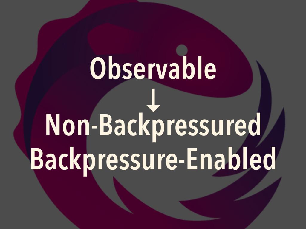 Observable ↓ Non-Backpressured Backpressure-Ena...