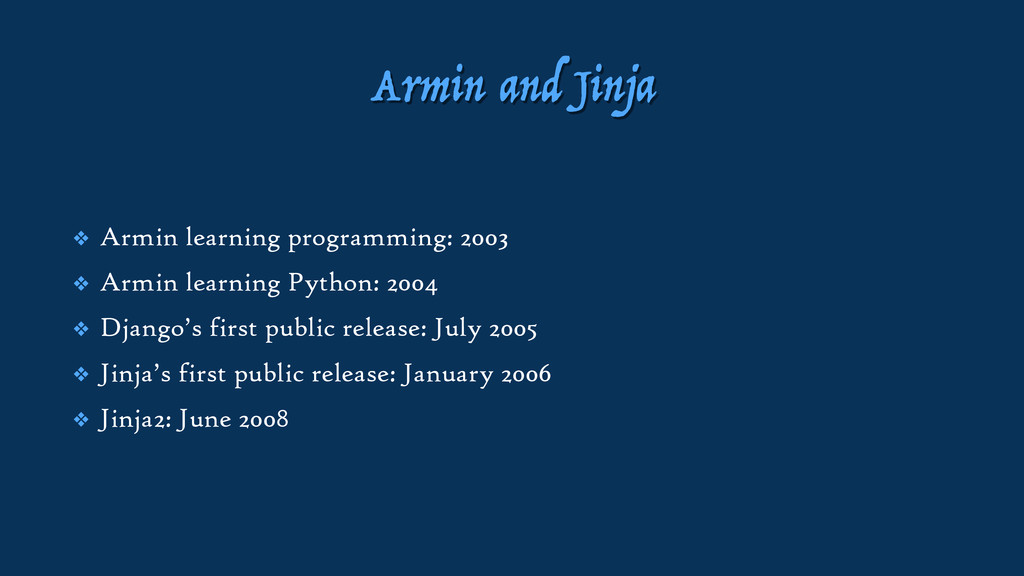 Armin and Jinja ❖ Armin learning programming: 2...