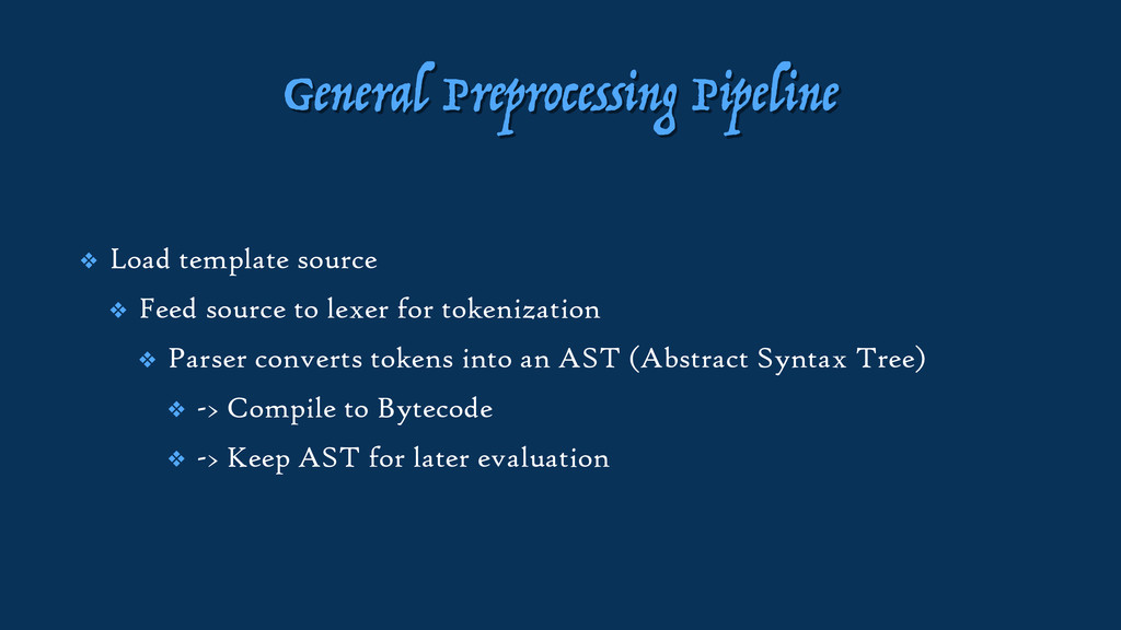 General Preprocessing Pipeline ❖ Load template ...