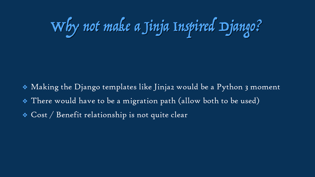 Why not make a Jinja Inspired Django? ❖ Making ...