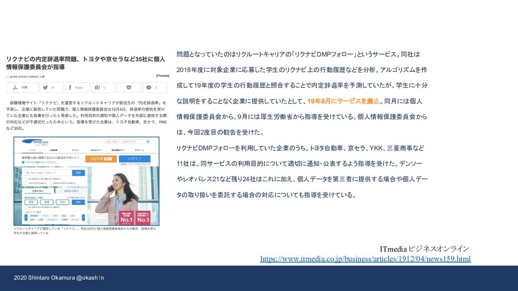 2020 Shintaro Okamura @okash1n ITmedia ビジネスオンライ...