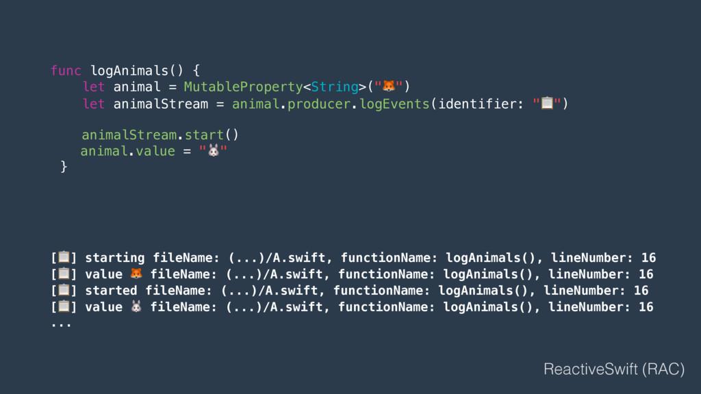 func logAnimals() { let animal = MutablePropert...