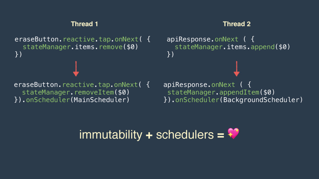 Thread 1 eraseButton.reactive.tap.onNext( { sta...