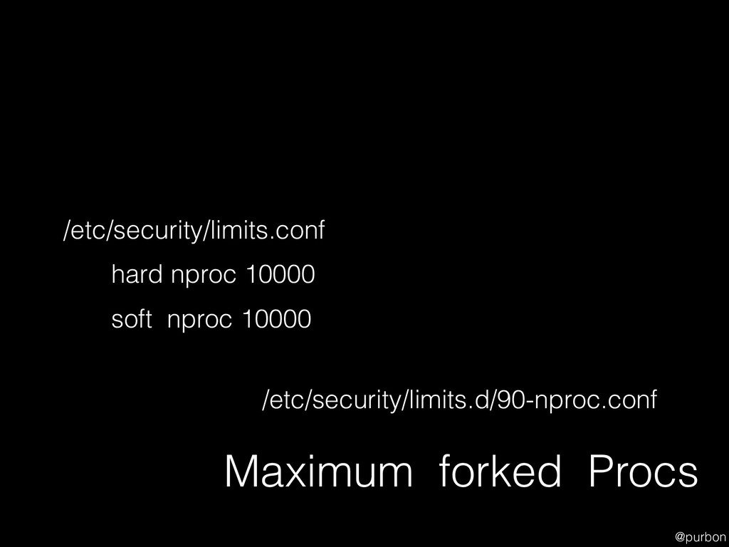 @purbon Maximum forked Procs hard nproc 10000 s...