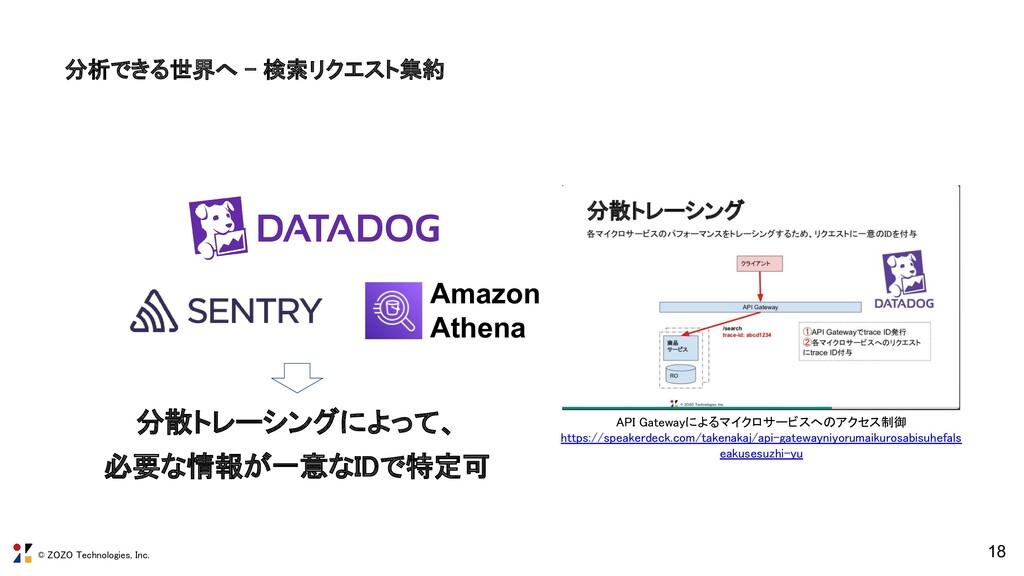 © ZOZO Technologies, Inc. 分析できる世界へ - 検索リクエスト集約...