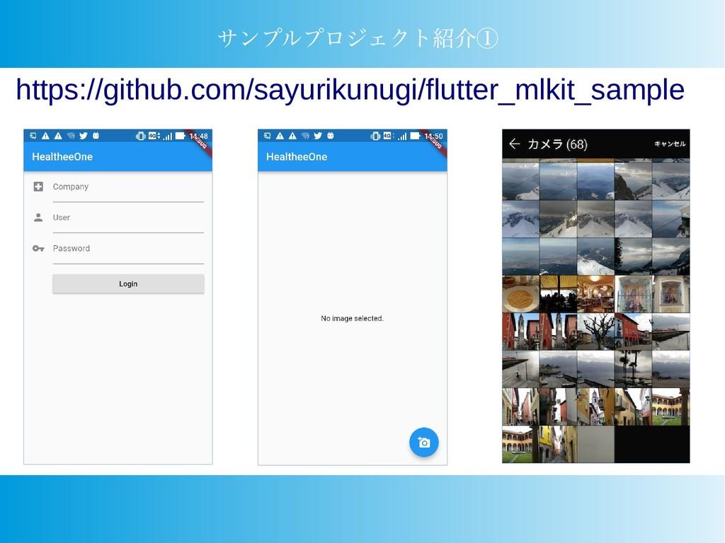 サンプルプロジェクト紹介① https://github.com/sayurikunugi/f...
