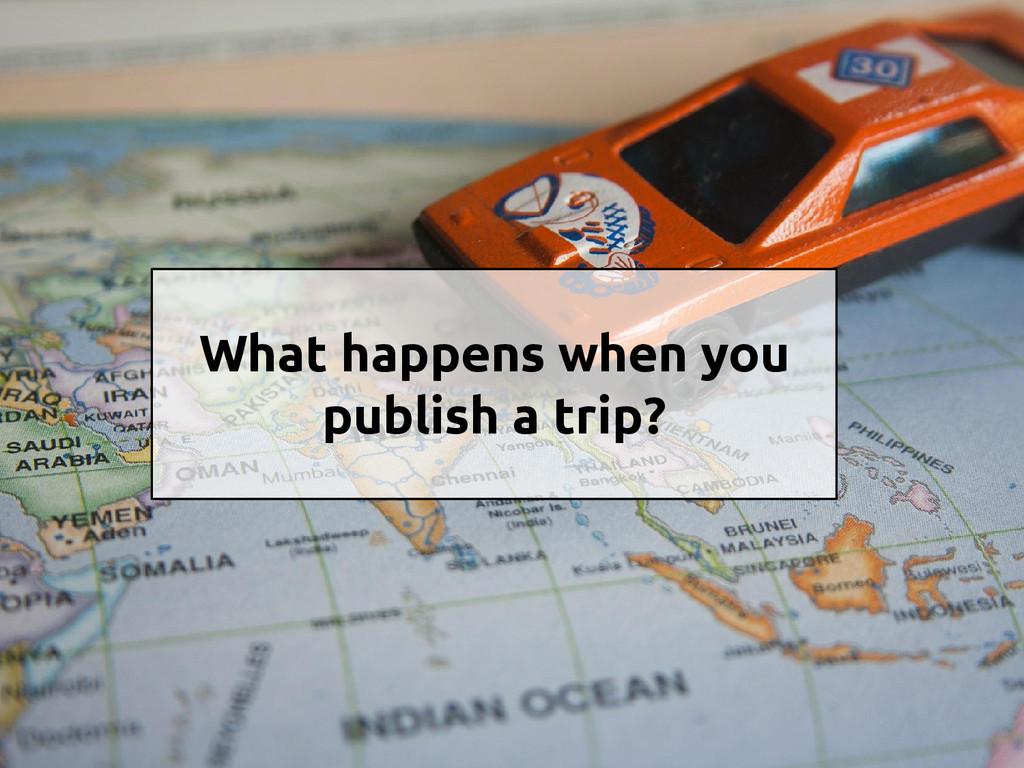 What happens when you publish a trip?