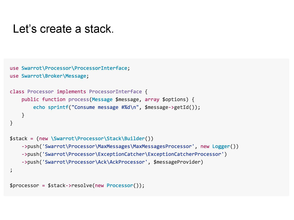 Let's create a stack.