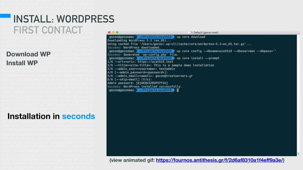 INSTALL: WORDPRESS FIRST CONTACT Download WP In...
