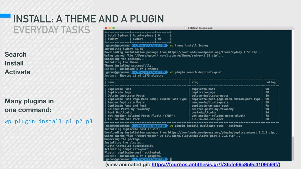 INSTALL: A THEME AND A PLUGIN EVERYDAY TASKS Se...