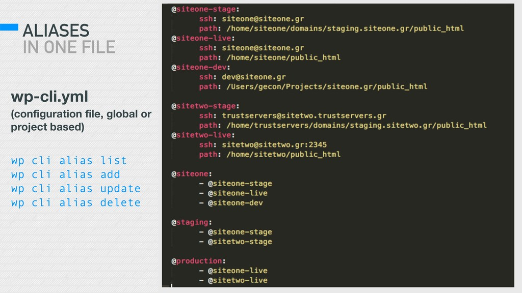 ALIASES IN ONE FILE wp-cli.yml (configuration ...