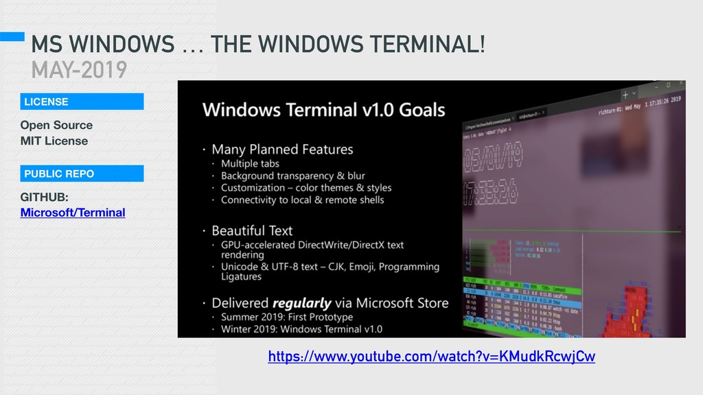 MS WINDOWS … THE WINDOWS TERMINAL! MAY-2019 htt...