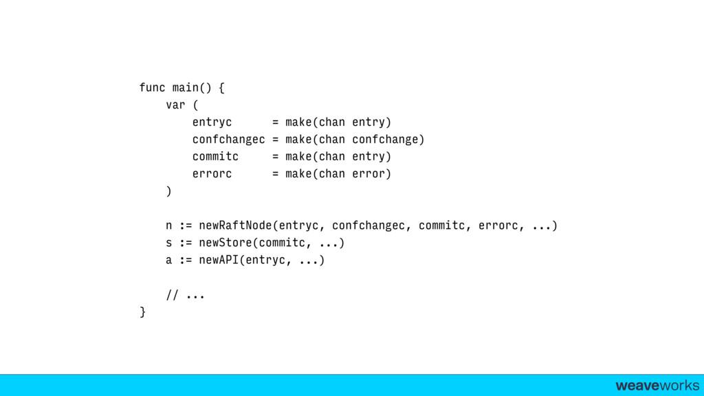 weaveworks- func main() { var ( entryc = make(c...