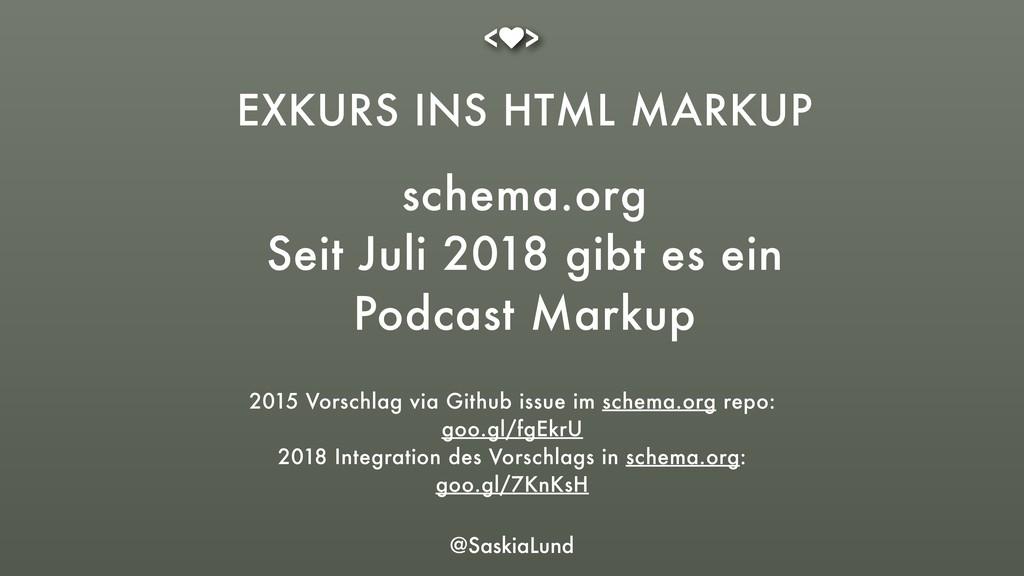 @SaskiaLund EXKURS INS HTML MARKUP schema.org ...