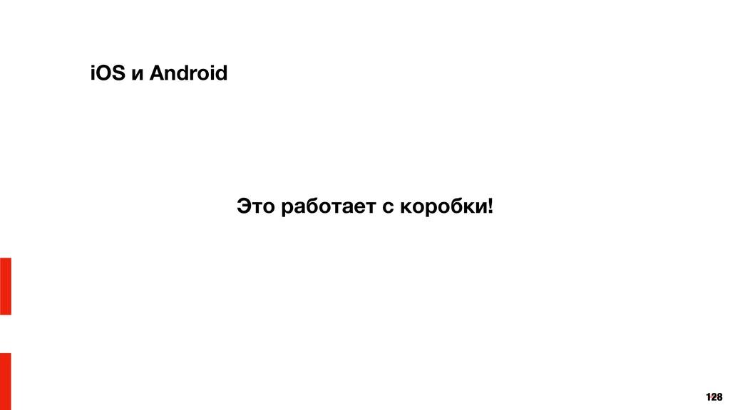 128 iOS и Android Это работает с коробки!