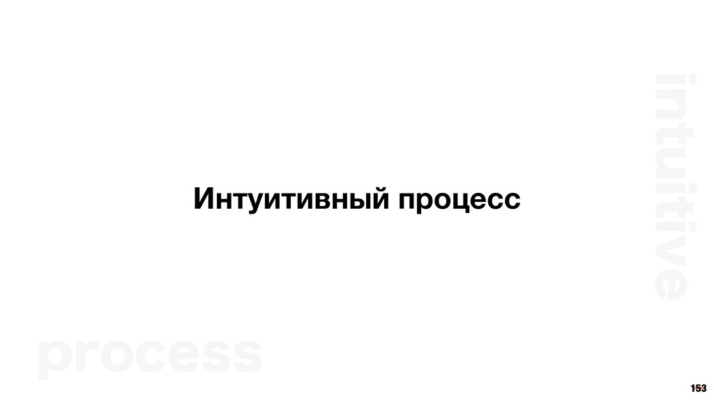 153 Интуитивный процесс JOUVJUJWF QSPDFTT