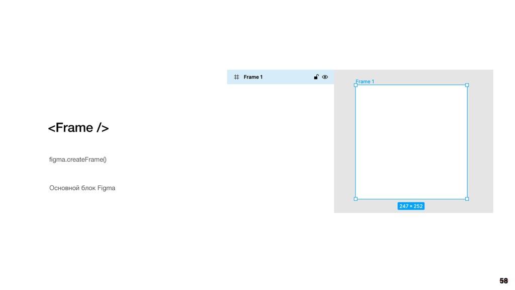 58 <Frame /> figma.createFrame() Основной блок F...