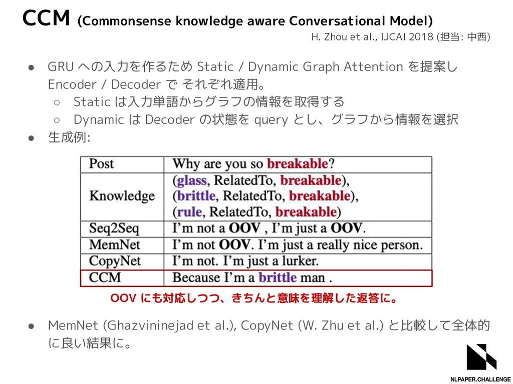 CCM (Commonsense knowledge aware Conversational...