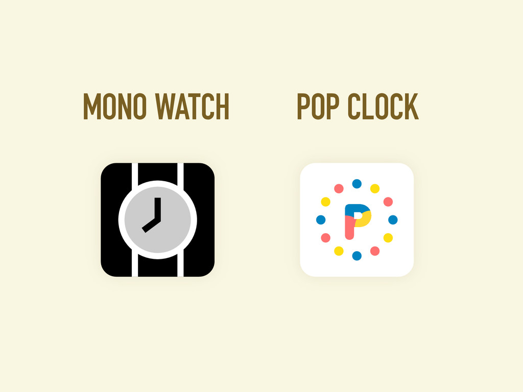 POP CLOCK MONO WATCH