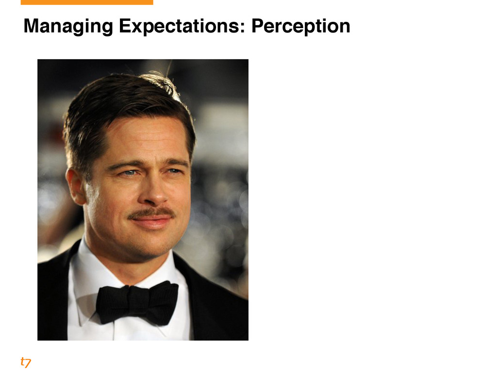 Managing Expectations: Perception