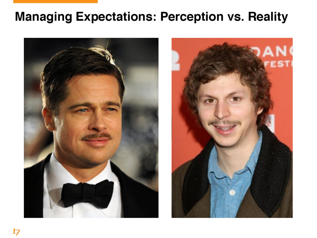 Managing Expectations: Perception vs. Reality