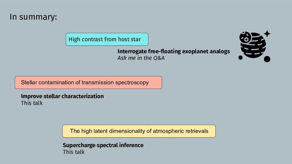 In summary: Stellar contamination of transmissi...