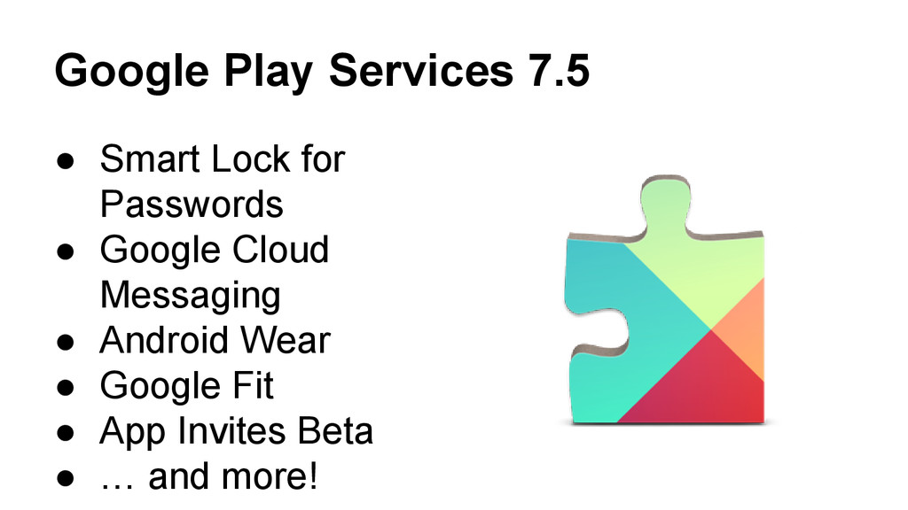Google Play Services 7.5 ● Smart Lock for Passw...