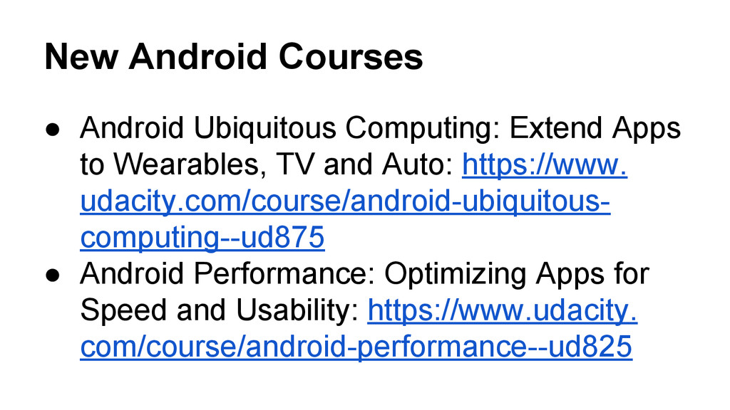 New Android Courses ● Android Ubiquitous Comput...
