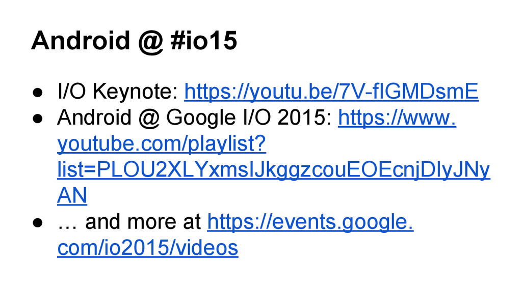 Android @ #io15 ● I/O Keynote: https://youtu.be...