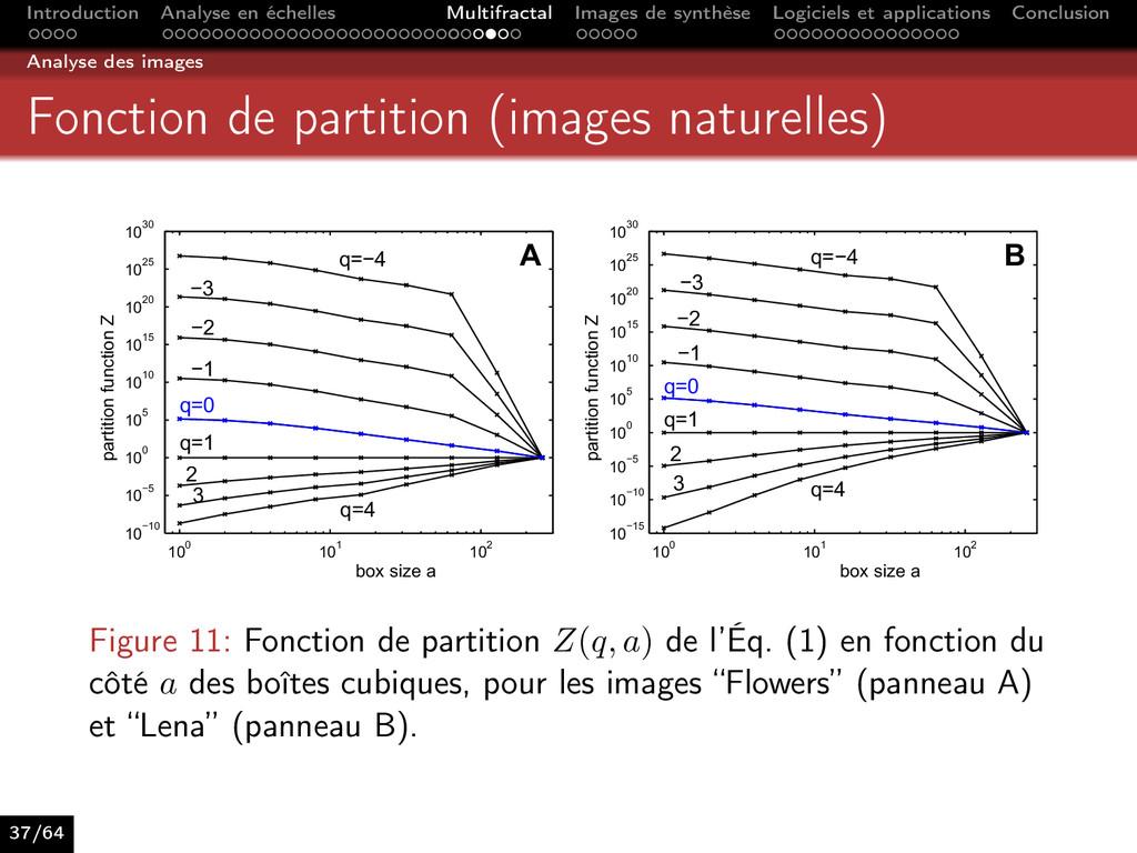 Introduction Analyse en échelles Multifractal I...